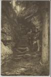 AK Kyjov (Krásná Lípa) Khaa Schönlinde Aufstieg zum Fürst Kinsky-Felsen 2 Männer Khaatal Böhmen Tschechien 1910