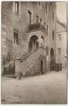 AK Foto Oschatz Rathaustreppe 1920
