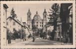 AK Weingarten Mergenthaler Straße und Münster Motorrad 1940