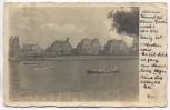 AK Foto Hamburg Eppendorf Winterhuderquai mit Häusern und Booten 1938