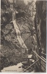 AK Wimbachklamm mit Wanderer b. Ramsau Berchtesgaden Bayern 1910