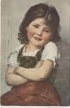 Künstler-AK Kind Arme verschränkt P.Wagner Stillvergnügt Marine Briefstempel Feldpost 1917