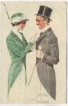 Künstler-AK Ludwig Hohlwein Mann und Frau Offizielle Postkarte Bayrischer Blumentag München 1913