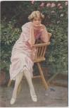 Künstler-AK Paul Heckscher Imp. 284 F. Bersch Dornröschen Frau auf Stuhl lehnend 1920