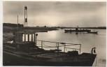 AK Foto Pretzsch / Elbe Sonnenuntergang an der Elbe mit Fähren b. Bad Schmiedeberg 1962