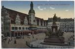 AK Leipzig Altes Rathaus mit Siegesdenkmal 1918