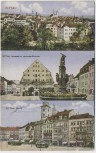 AK Zittau 3 Bilder Ortsansicht Neustadt Markt 1930