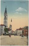 AK Zittau Bautznerstraße Kinder und Straßenbahn 1920