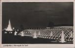 AK Düsseldorf Große Reichsausstellung Schaffendes Volk Leuchtfontäne u. Wasserspiele bei Nacht 1937