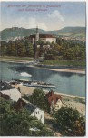 AK Blick von der Jahnplatte in Bodenbach nach Schloss Tetschen Děčín Tschechien 1925