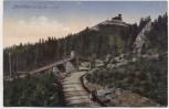 VERKAUFT !!!   AK Jeschken von der Strasse aus b. Liberec Reichenberg Tschechien 1918