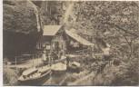 AK Hinterhermsdorf in Sachsen Obere Schleuse mit Booten und Menschen b. Sebnitz 1925