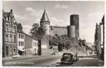 VERKAUFT !!!   AK Foto Mayen / Eifel Die Genovevaburg mit Straßenansicht und Autos 1960