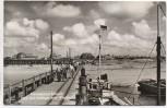 AK Foto Nordseebad Baltrum Blick vom Anlieger zum Westdorf Boote und Menschen 1962