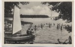 AK Berlin-Grünau Am Langen See Boote mit Menschen 1950