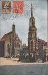 AK Nürnberg Schöner Brunnen 1922