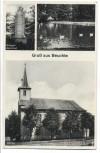AK Gruß aus Beuchte Kriegerdenkmal Dorfteich Kirche b. Schladen-Werla 1937