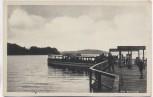 AK Malente Gremsmühlen Am Kellersee mit Fähre und Menschen 1940