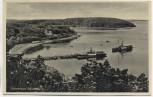 AK Ostseebad Glücksburg mit Steg und Schiffen 1940