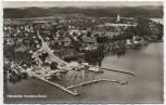AK Foto Fährehafen Konstanz-Staad Luftbild 1954