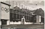 AK Foto Garmisch-Partenkirchen Olympia Eisstadion 1956