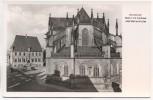 AK Foto Osnabrück Markt mit Rathaus und Marienkirche 1950