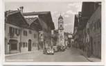 AK Foto Mittenwald Innsbrucker Straße viele Autos 1940