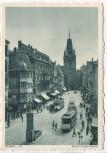 VERKAUFT !!!   AK Freiburg im Breisgau Adolf-Hitler-Strasse Straßenbahn viele Menschen 1935