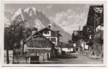 AK Foto Garmisch-Partenkirchen Frühlingstraße mit Zugspitzgruppe 1940