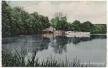 AK Plön Anlegebrücke Fegetasche mit Schiff 1950