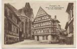 AK Arnstadt in Thüringen Partie an der Liebfrauenkirche und alten Papiermühle 1924