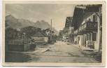AK Garmisch-Partenkirchen Frühlingstrasse Inflation Frankatur 3 Marken 1923