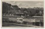 AK Rathen Sächsische Schweiz Dampfer Dresden mit Erbgericht und Gasthaus Rosengarten 1951