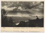 AK Foto Postelwitz an der Elbe mit vordere Schrammsteine b. Bad Schandau Sächsische Schweiz 1954