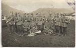 AK Foto Kempten Allgäu Gruppenbild Soldaten Polizei Orchester Blasorchester 1. WK Feldpost 1915