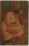 AK Degi-Gemälde Nr. 595 Der Bücherwurm von A. v. Riesen 1920