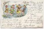AK Litho Kinder am Strand spielend 1899