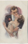 Künstler-AK Liebespaar küssend Luis Usabal ERKAL Nr. 357/1 1922