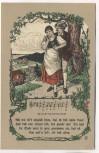 Künstler-AK Liedkarte Treue Liebe Deutsche Volkslieder Nr. 25 Offset-Druck 1920