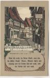 Künstler-AK Liedkarte Nun leb' wohl, du kleine Gasse Deutsche Volkslieder Nr. 20 Offset-Druck 1920