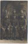 VERKAUFT !!!   AK Foto Gruppenbild 6 Soldaten 1. WK Weltkrieg 1915