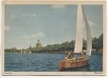 AK Foto Hannover Maschsee mit Segelboot 1944