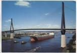 AK Foto Hamburg Köhlbrandhochbrücke mit Frachter Victoria 1970