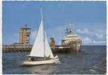 AK Foto Nordseeheilbad Cuxhaven An der Alten Liebe mit Segelschiff und Passagierschiff 1970