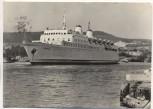 AK Foto Ostseestadt Saßnitz mit Eisenbahnfährschiff MS Sassnitz 1961