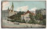 AK Leipzig Partie am alten Theater mit Straßenbahn 1909