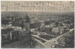 AK Leipzig Blick vom Rathausturm nach Südwest Rückseitig Werbung Richard Jaeger Augustusplatz 2 1907