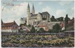 AK Gruss aus der Blumenstadt Quedlinburg Schloss 1912