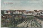 AK Gruß aus Quedlinburg Ortsansicht mit Gärten Soldatenkarte 1911