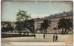 AK Zwickau Römerplatz Häuseransicht mit Menschen Soldatenkarte 1909
